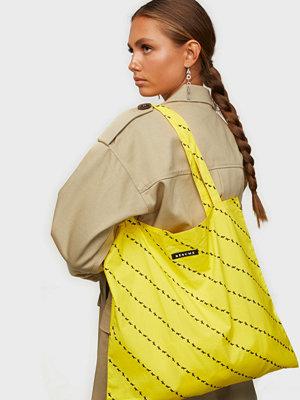 Résumé gul randig väska Ava Totebag