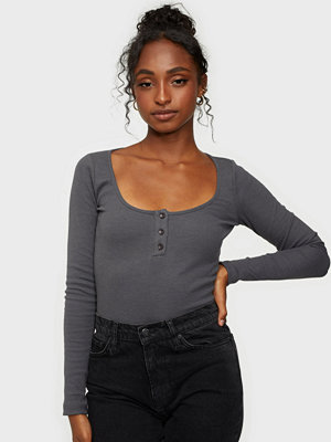 NLY Trend Button Up Bodysuit