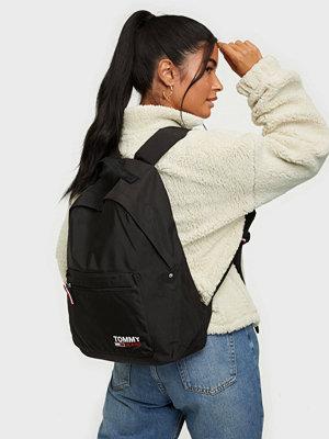 Tommy Jeans svart väska TJW CAMPUS GIRL BACKPACK