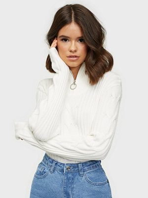 Vila VIRIL KNIT FUNNEL ZIP NECK L/S TOP