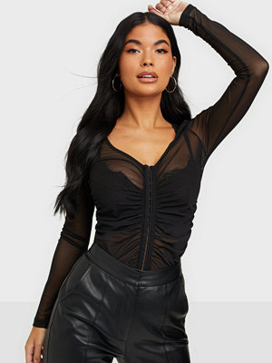 NLY Trend Rouched Mesh Top