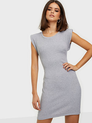 Parisian Shoulder Pad Bodycon Mini Dress