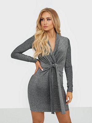 Missguided Metallic Twist Front Mini Dress