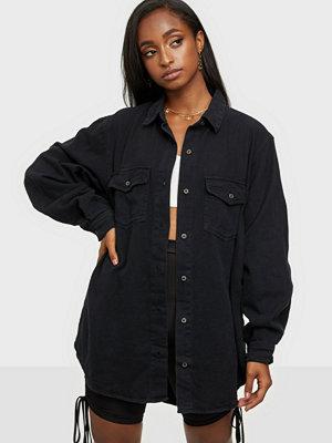 Missguided Boyfriend Fit Oversized Denim Shirt