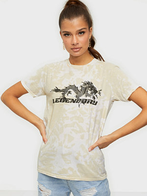 Missguided Tie Dye Dragon Tee