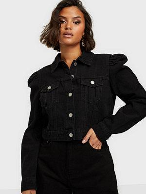 Missguided Puff Sleeve Denim Jacket