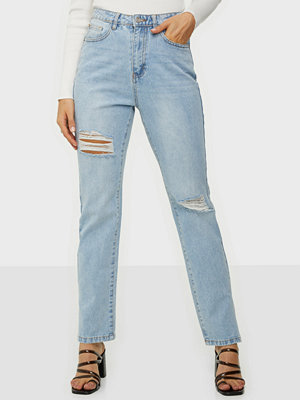 Jeans - Missguided Highwaisted Straight Side Split Jeans