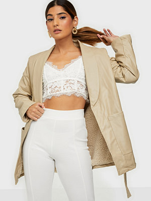 Missguided Belted PU Jacket