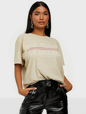 Missguided Paris Graphic Oversized Tee