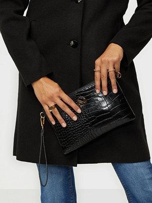 NYPD svart mönstrad väska 500030