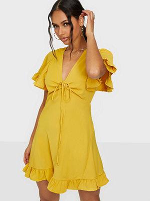 Ax Paris V Neck Ruffle Dress