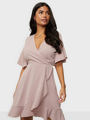 Ax Paris Wrap Flounce Dress
