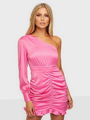 Glamorous One Shoulder Satin Dress