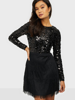 NLY Trend Sequin Bottom Fringe Dress
