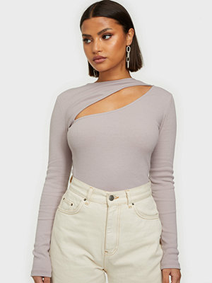 NLY Trend Cut Out Rib Top
