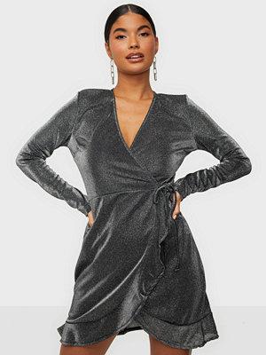 NLY Trend Wrap Lurex Dress