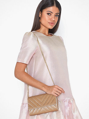 Pieces beige väska PCJONNA VELVET CROSS BODY