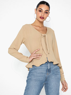 Vila VIRASHA L/S CROPPED TOP/L