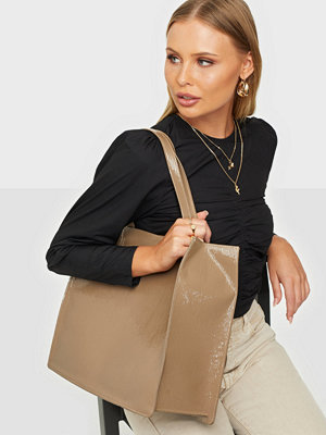 NLY Accessories beige väska All Day Shopper Bag