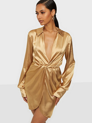 NLY One Satin Wrap Dress