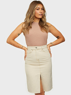 Selected Femme SLFMAY MW JADE WHITE DENIM SKIRT W