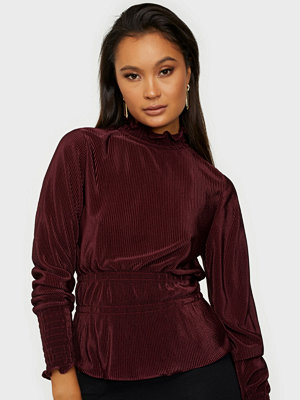 NLY Trend Pleated High Neck Blouse