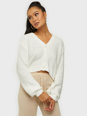 NLY Trend Cropped Fuzzy Cardigan