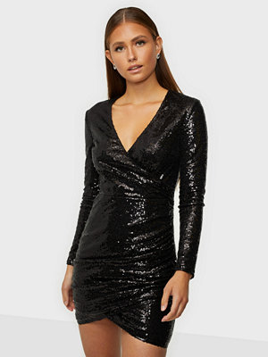 NLY Trend Body Wrap Sequin Dress
