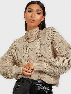 Jacqueline de Yong JDYJULIA CABLE L/S SHORT PULLOVER K