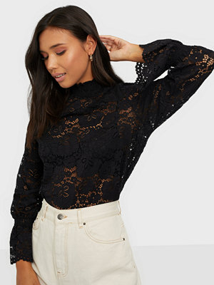 Pieces PCRAITA LS LACE TOP