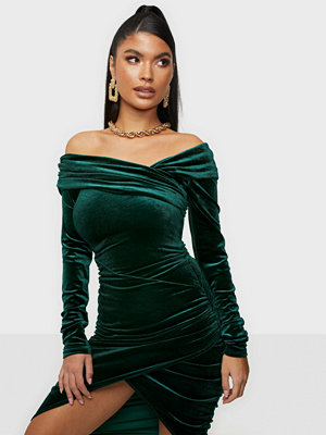 NLY One Wrapped Velvet Dress