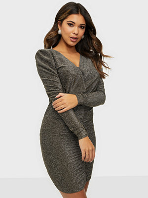 Noisy May NMDIDI L/S V-NECK SHORT DRESS SP