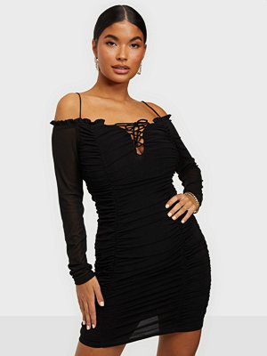 Kiss The Sky Bardot Mesh Dress