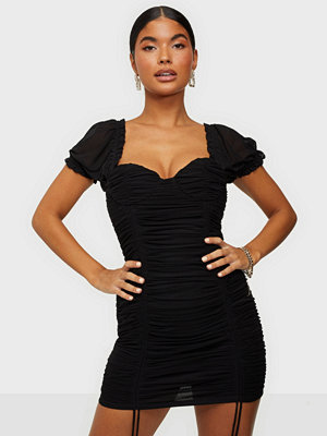 Kiss The Sky Rouche Mesh Mini Dress
