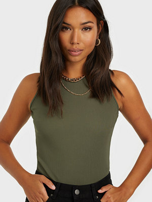 Missguided Ribbed Racer Neck Body