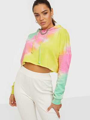 Missguided Tie Dye Cropped Oversized Hoodie