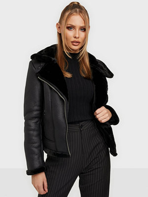 Missguided Faux Fur Aviator Jacket