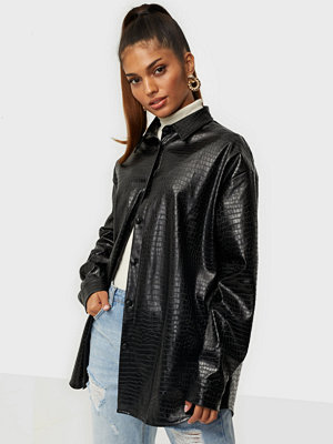 Missguided Croc PU Shirt