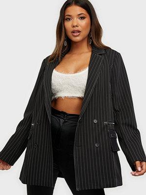 Missguided KXMG Pinstripe Oversized Blazer