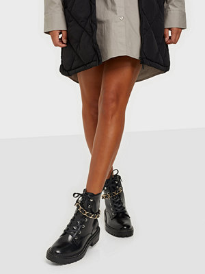 Boots & kängor - ONLY SHOES ONLBOLD-3 PU CHAIN LACE UP BOOT