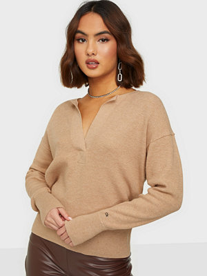 Calvin Klein LS OPEN NECK SWEATER