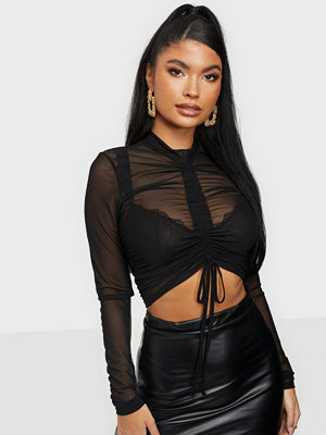 NLY Trend Drawstring Mesh Top