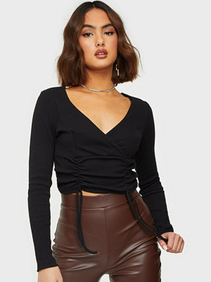 Parisian Rib Wrap Front Crop Top