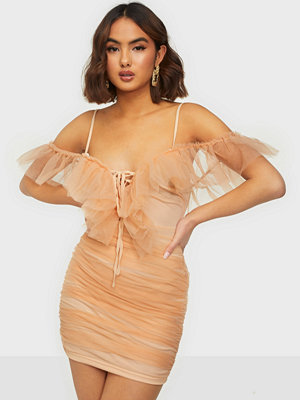 Missguided Frill Mesh Strappy Mini Dress