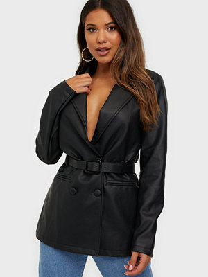 Missguided Double Breasted Belt Blazer