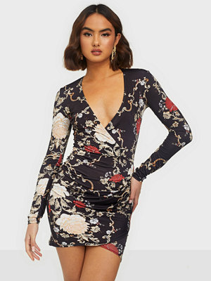 NLY One Low Plunge Print Dress