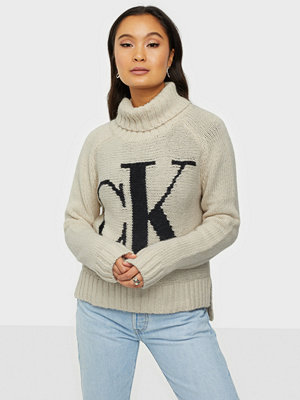 Calvin Klein Jeans CK LOGO ROLL NECK SWEATER