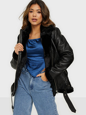 Y.a.s YASALVA AVIATOR LEATHER JACKET