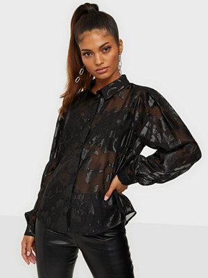 Pieces PCDANA LS GLITTER SHIRT