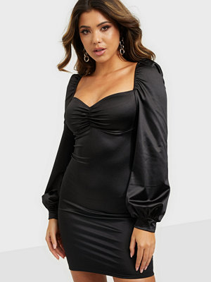 NLY One Satin Long Sleeve Dress